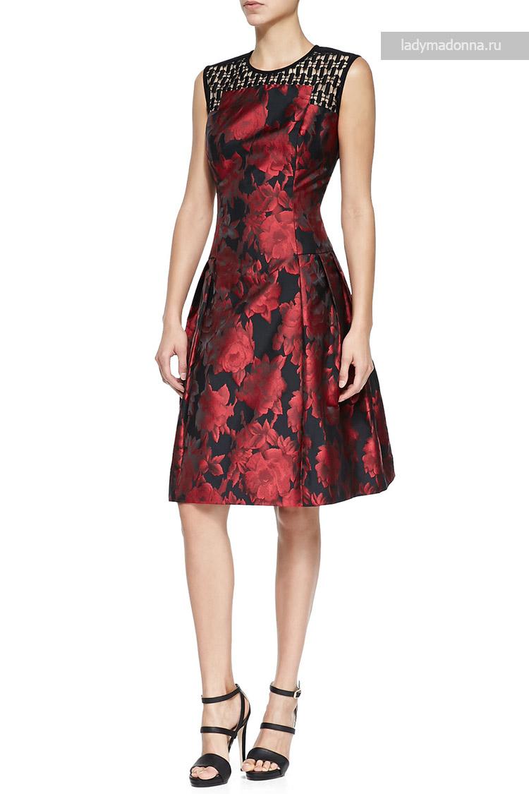 А крой коктейльное платье с открытыми плечами