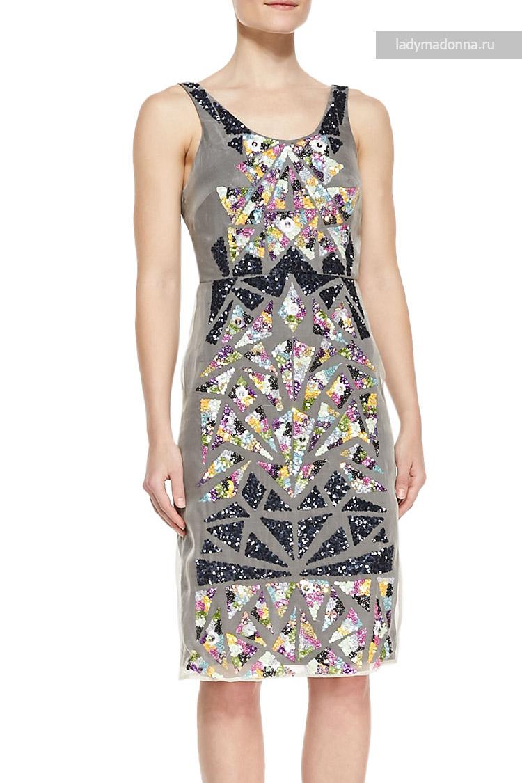 коктейльное платье яркое