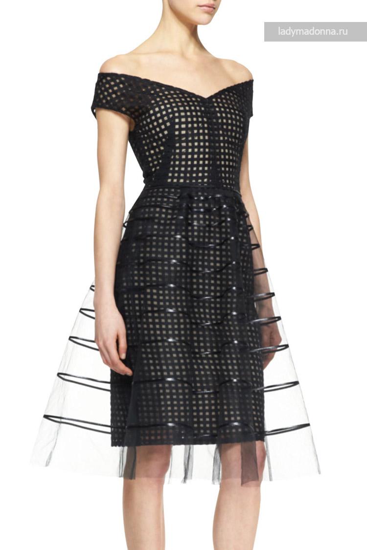 коктейльное платье строгое