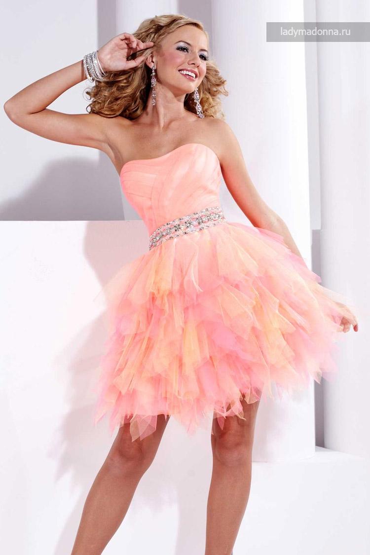 клубное коктейльное платье