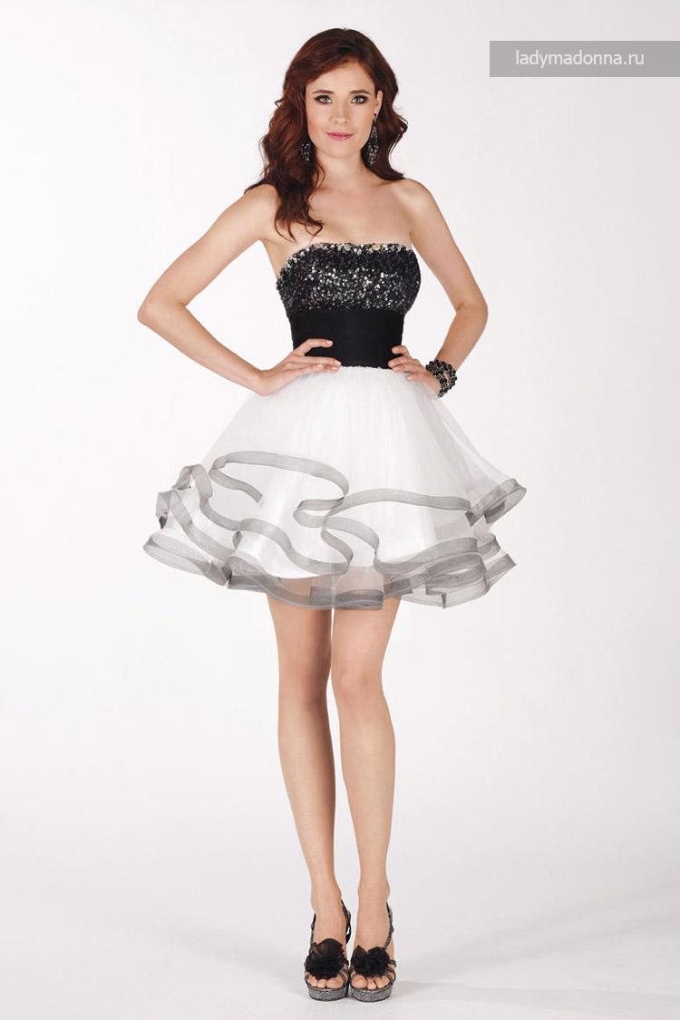 пышное коктейльное платье