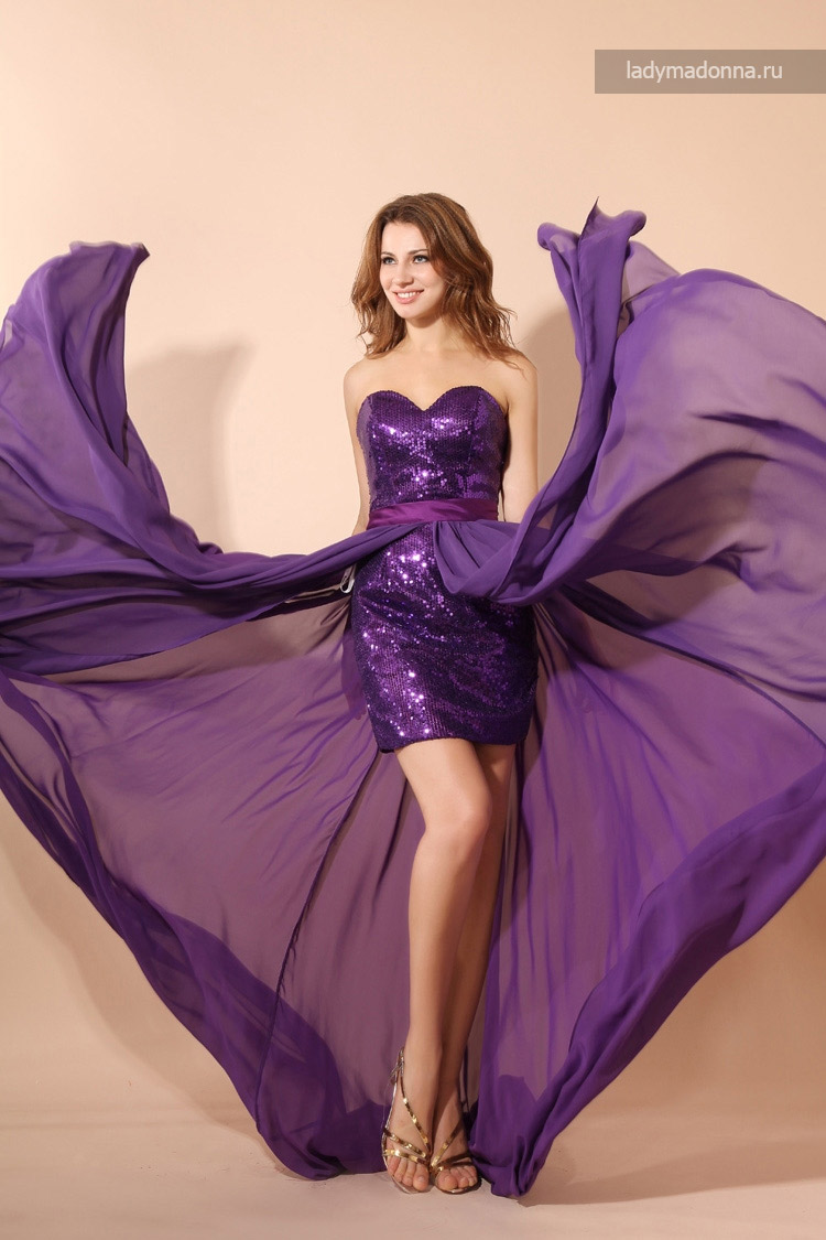 коктейльное платье с шлейфом