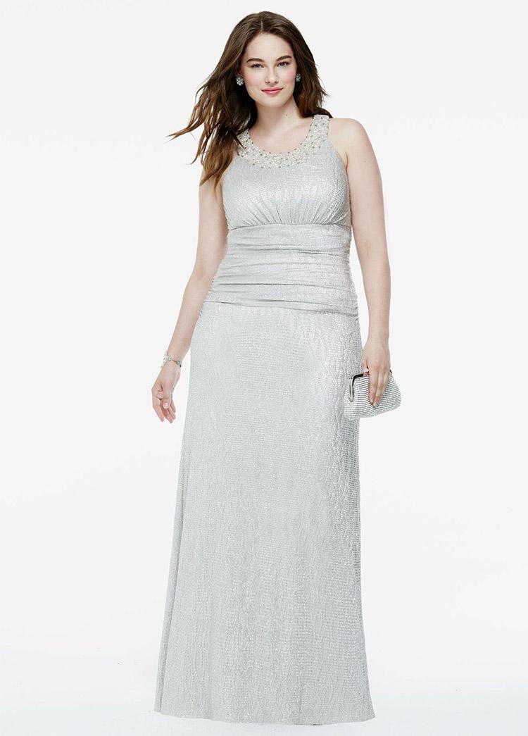 вечернее платье для полных