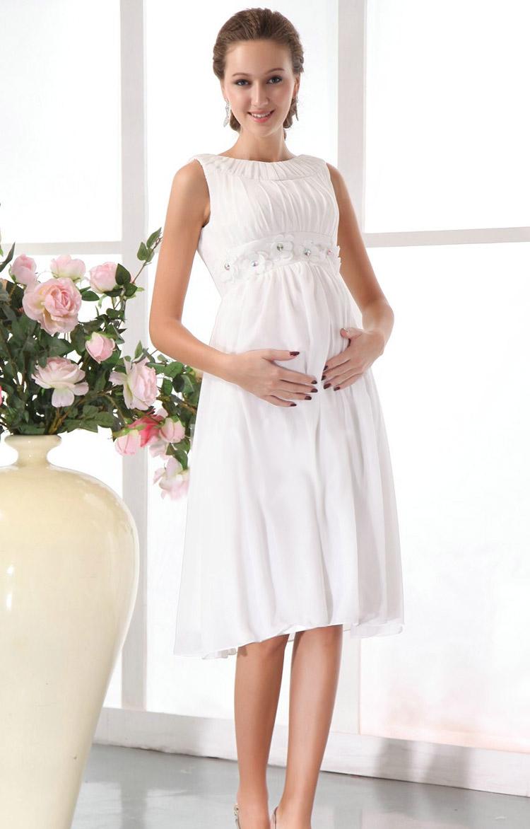 длинное свадебное платье для беременной