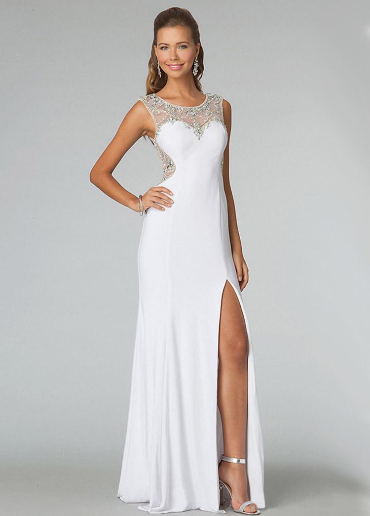 Белые вечерние платья фото цены