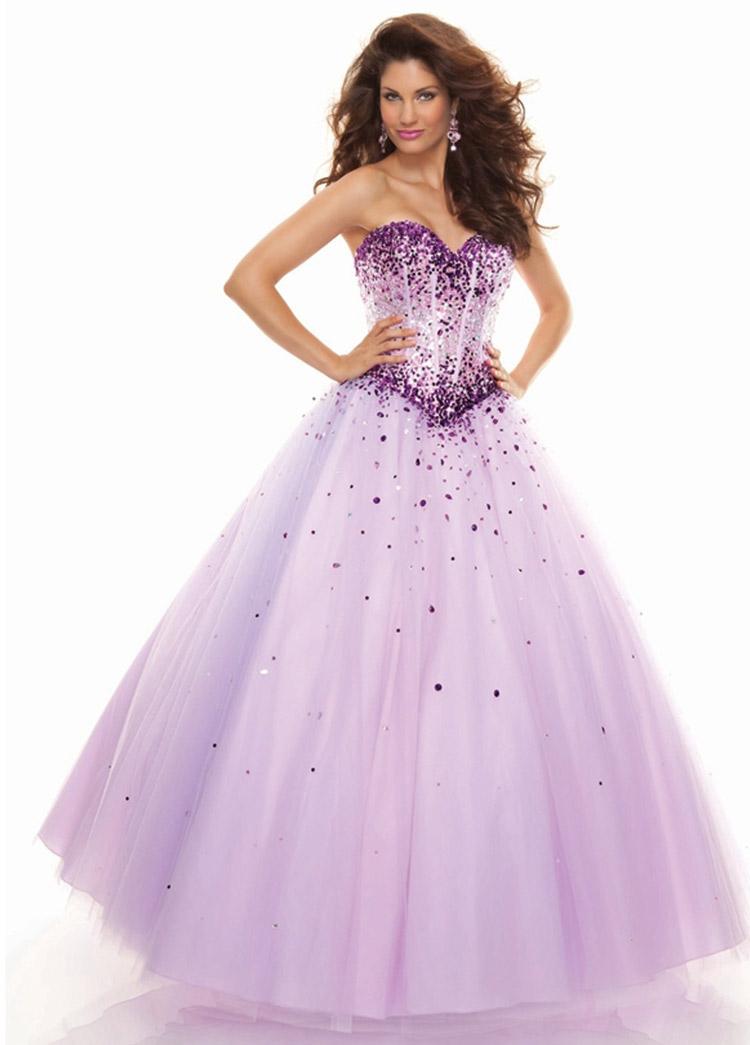 платье на выпускной с блестками