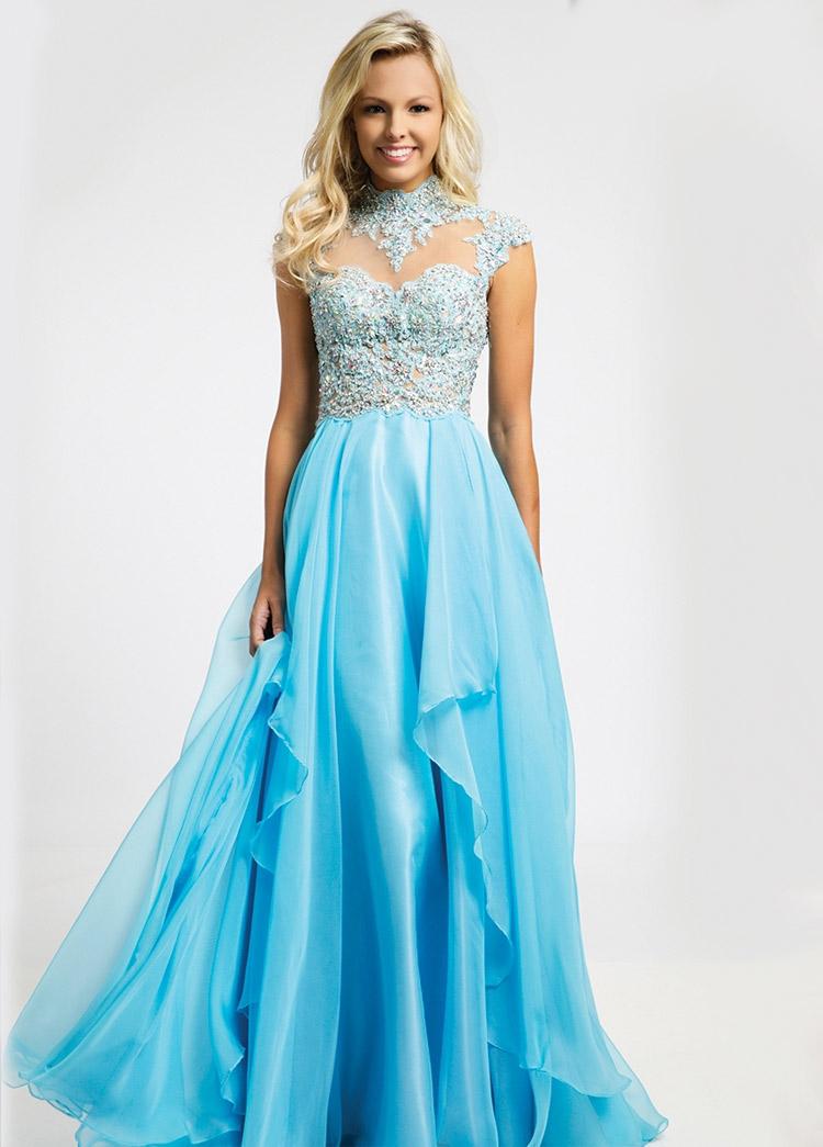 92944503612 ... платье на выпускной голубое на выпускной с открытыми плечами ...