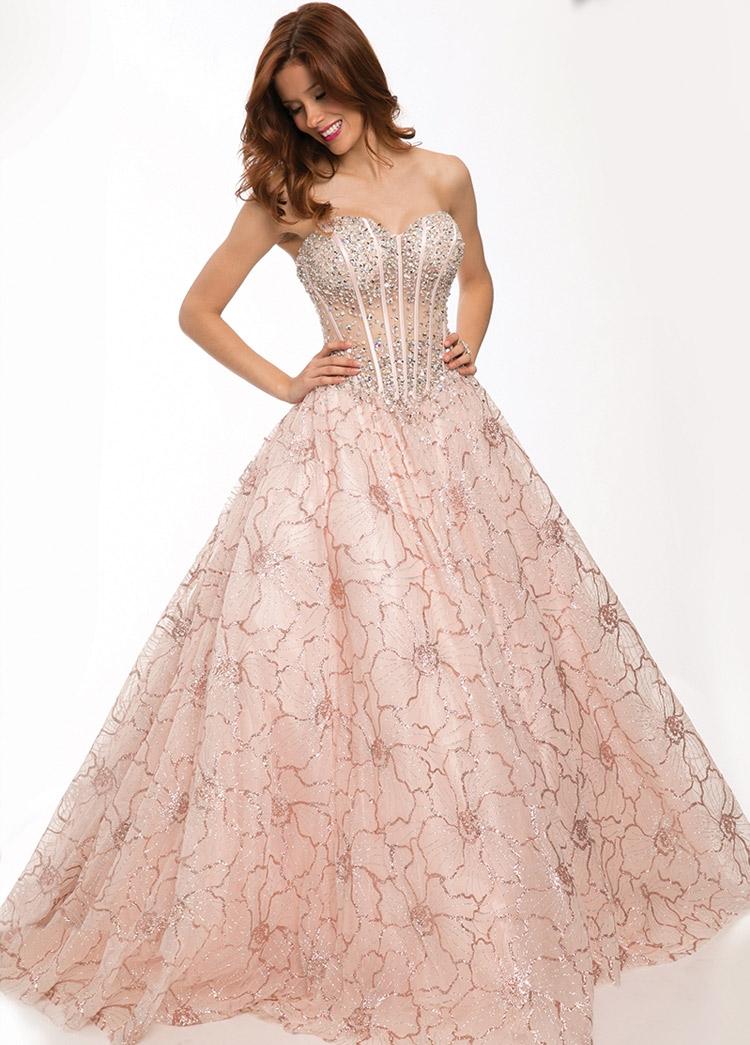 пышное платье на выпускной в пол