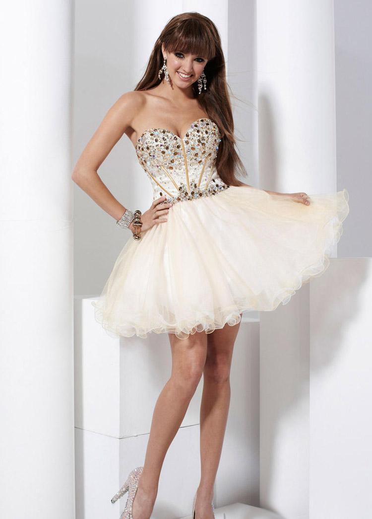 короткое платье пышное фото