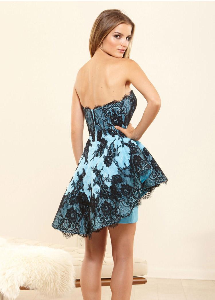платье на выпускной выше колен
