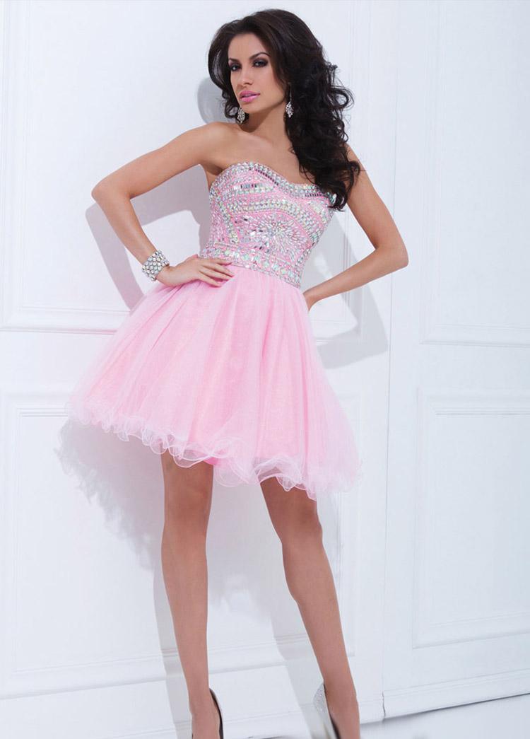 розовое платье для выпускного бала 2016