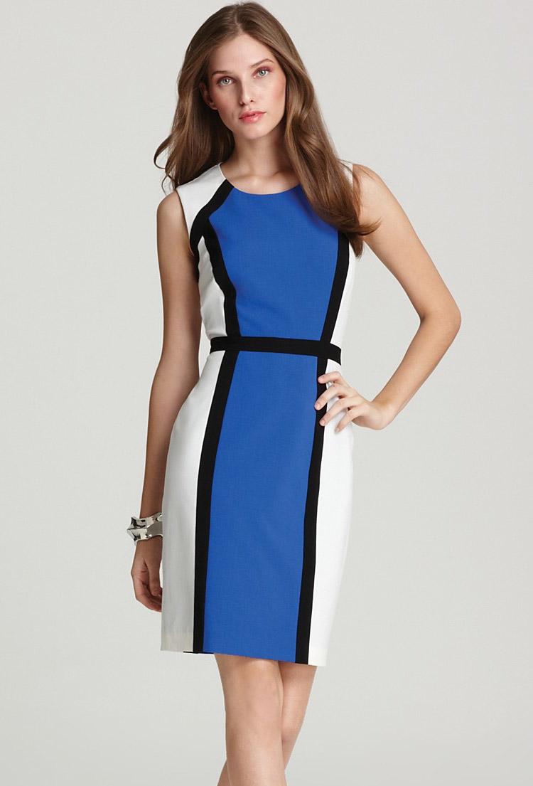 строгое платье-футляр для офиса