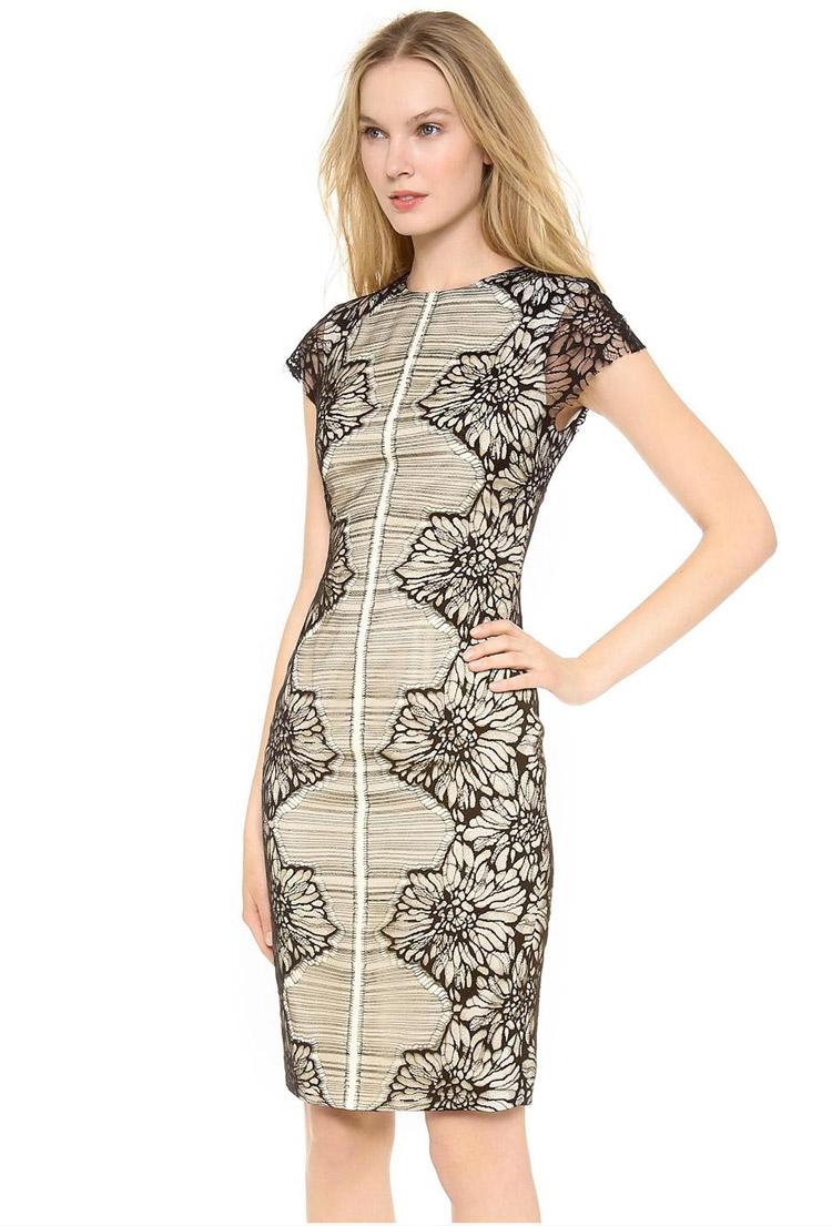 дизайнерское платье-футляр
