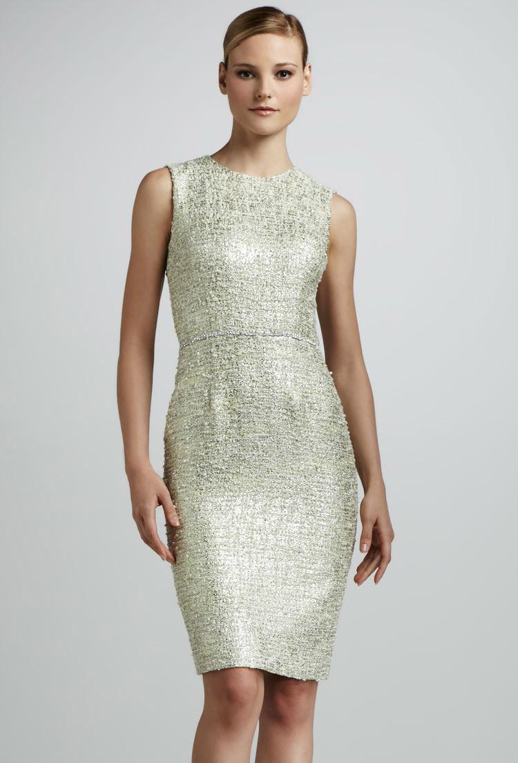 вечернее платье-футляр с золотом