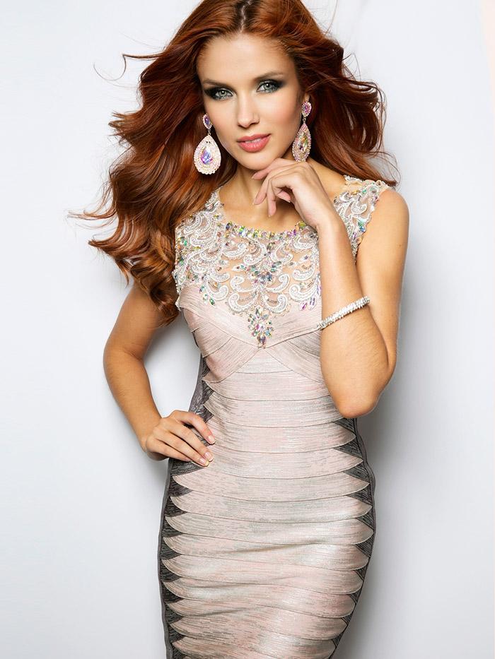 модно короткое вечернее платье 2016