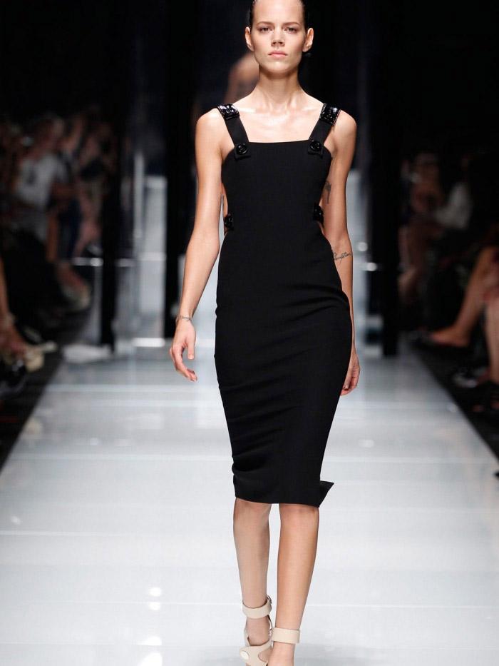 строгое черное нарядное короткое вечернее платье