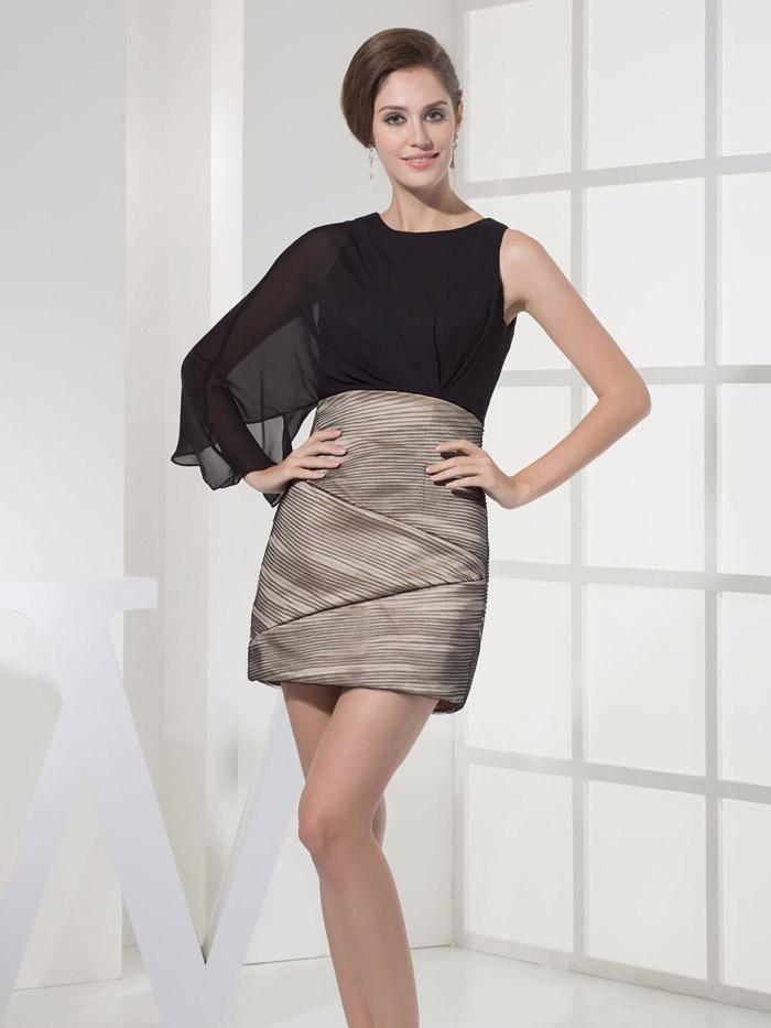 простое вечернее платье мини