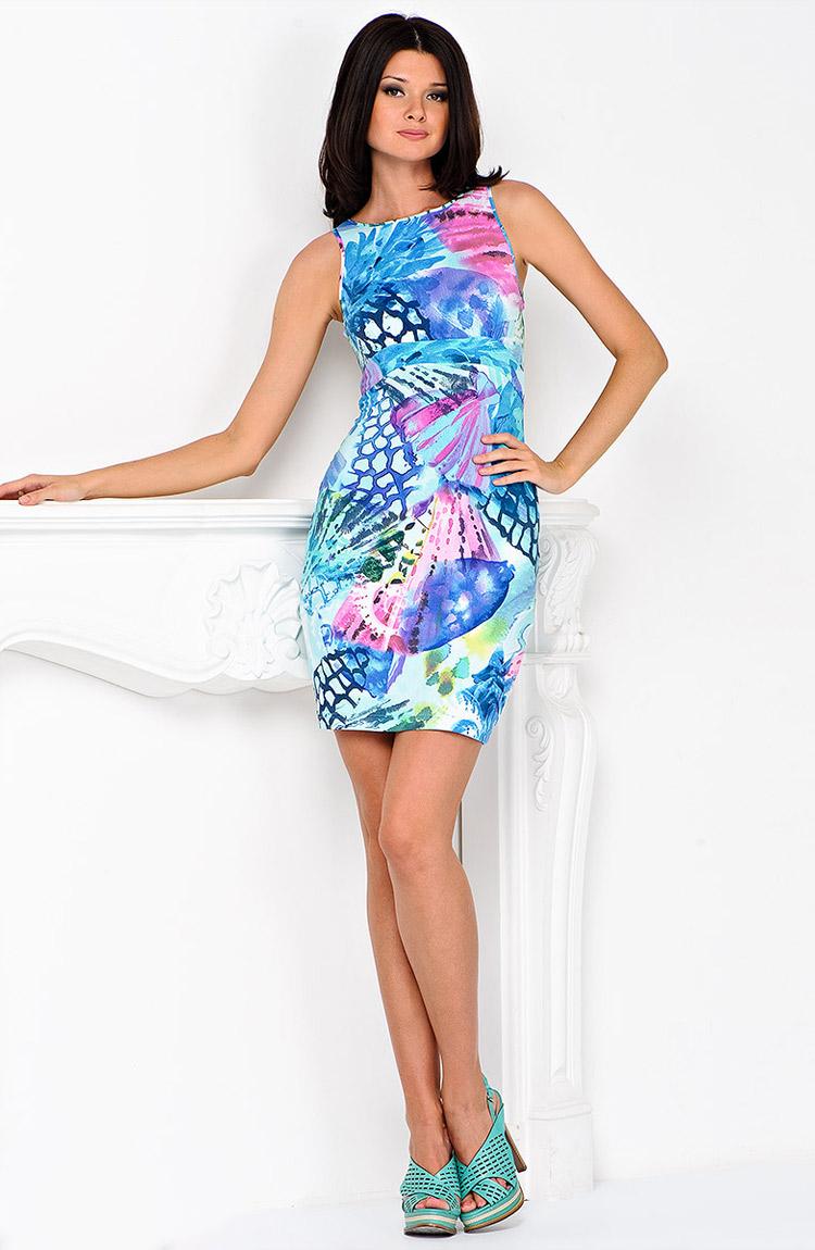 летнее платье-футляр