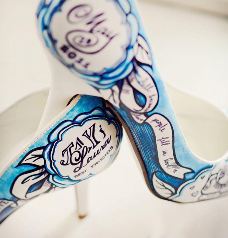 свадебные туфли ручной работы