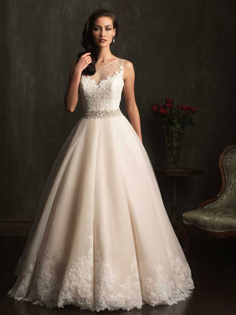 пышное свадебное платье в винтажном стиле