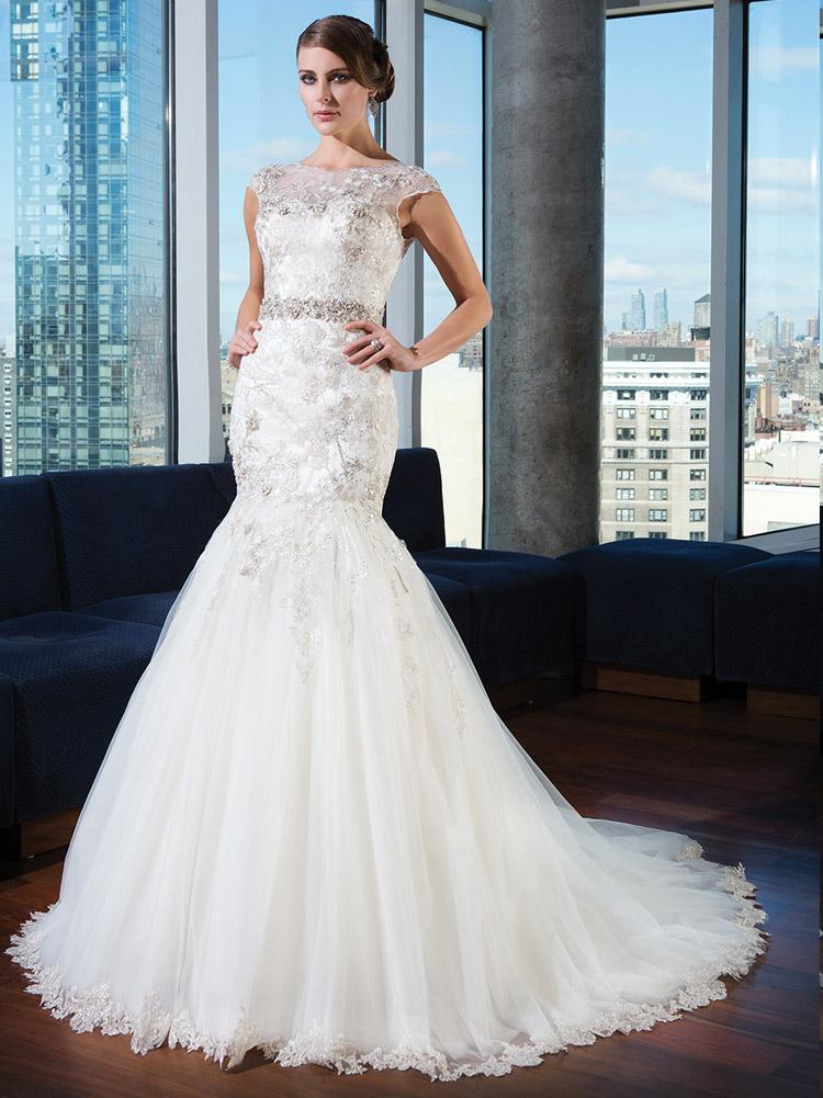 пышное платье невесты 2016 с закрытыми плечами