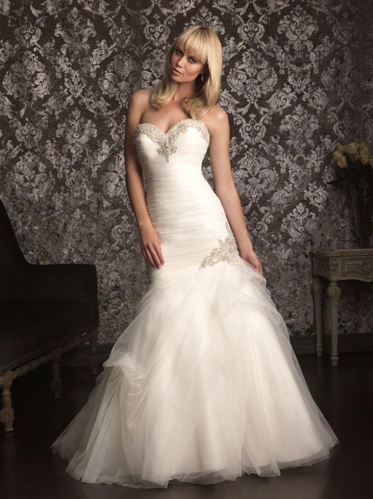 пышное свадебное платье в винтажном рыбка