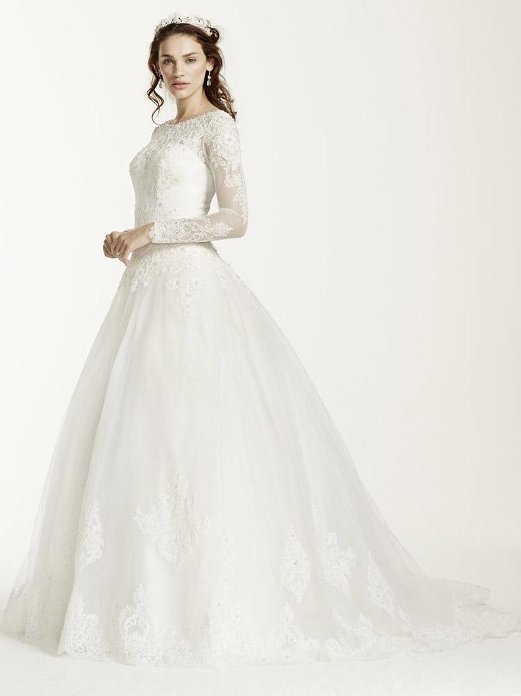 классическое пышное свадебное платье в винтажном стиле