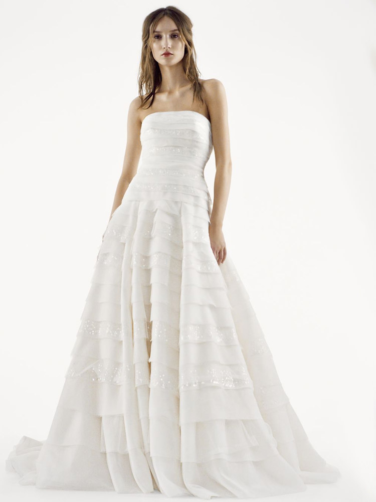 пышное свадебное платье классика