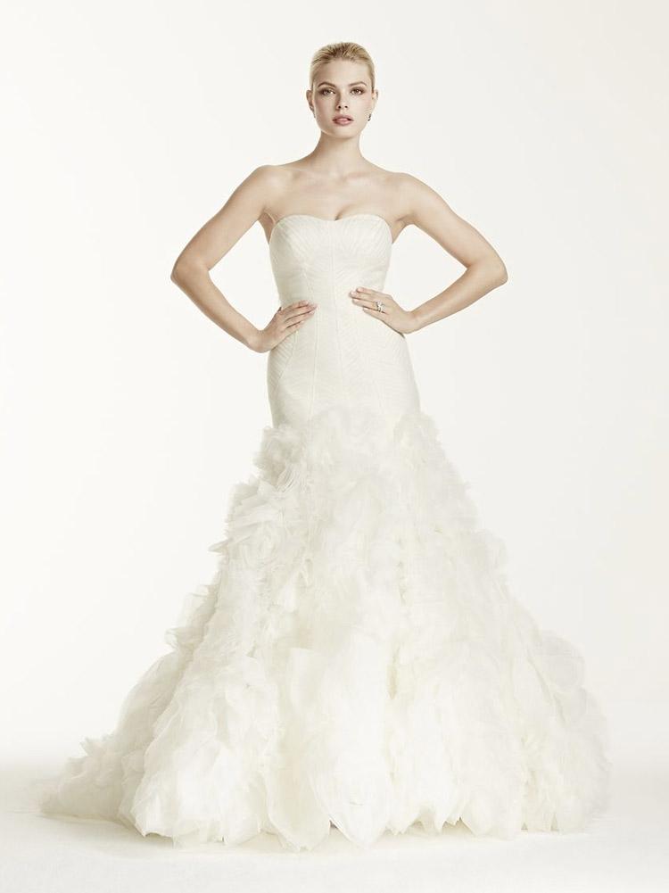 пышное свадебное платье с юбкой от колен