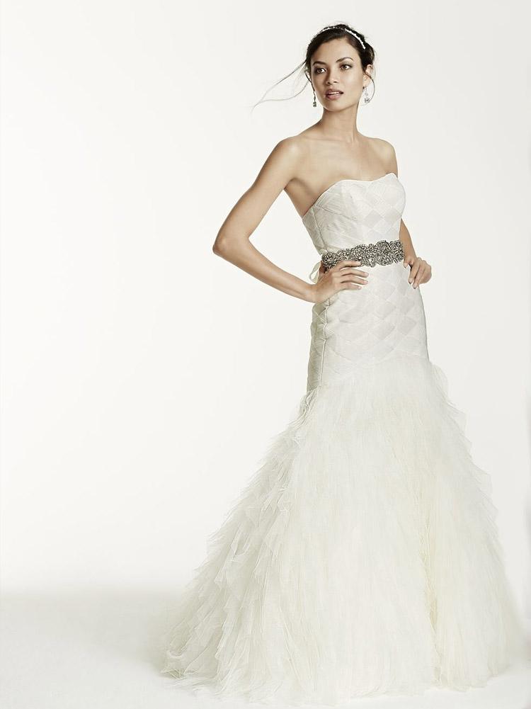 пышное свадебное платье с ремнем