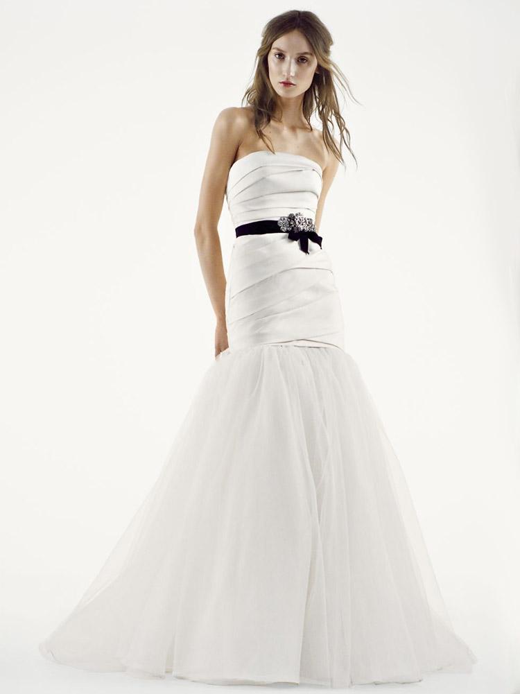 простое пышное свадебное платье
