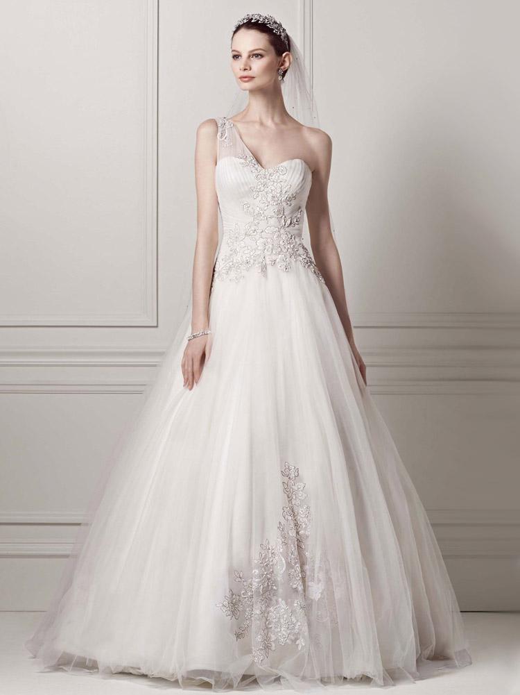 элегантное пышное свадебное платье
