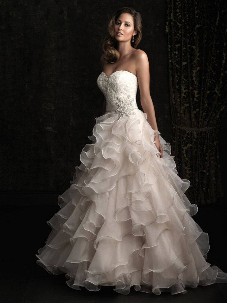 пышное свадебное платье от колен
