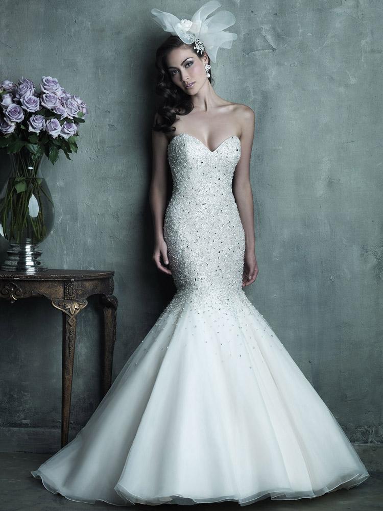 пышное платье невесты с кристаллами Сваровски