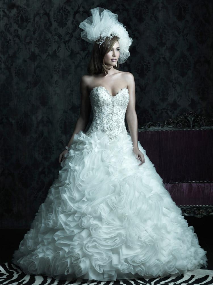 платье невесты с пышной юбкой