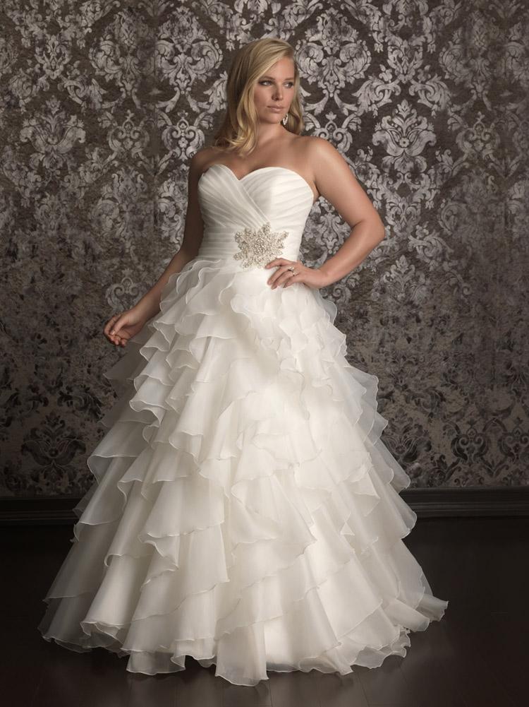 пышное свадебное платье для полных женщин