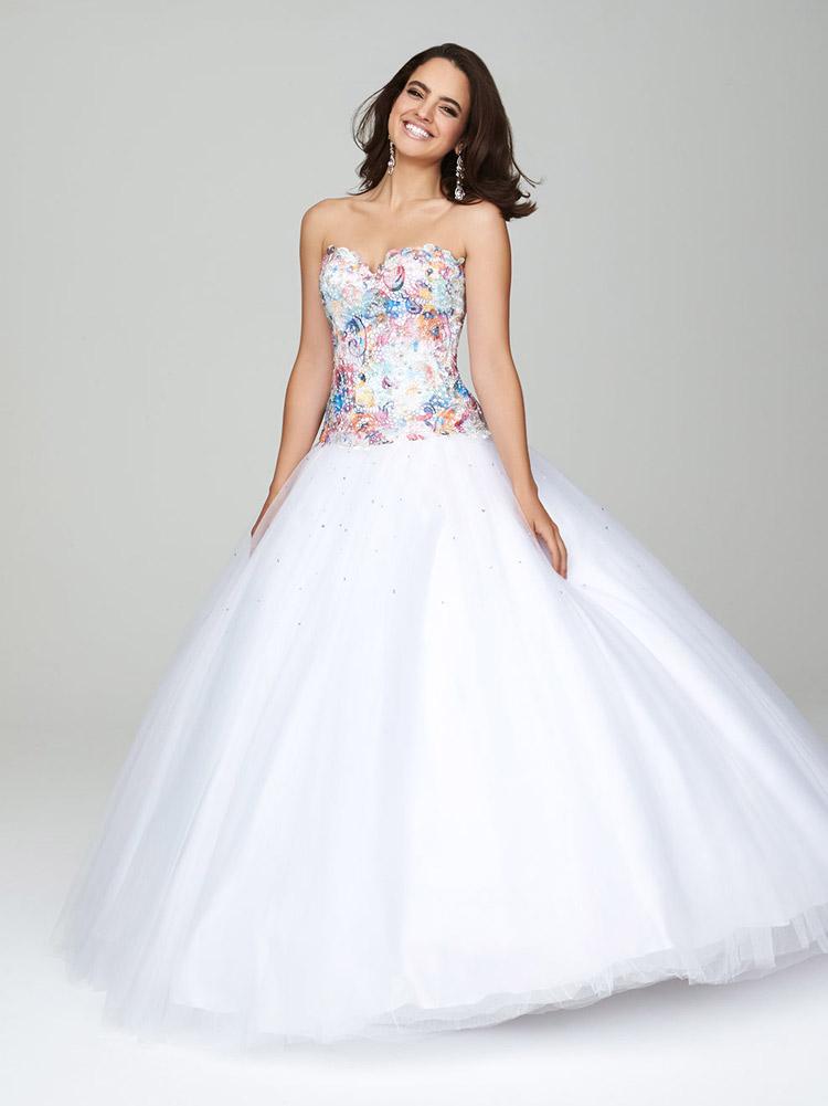 свадебное платье с пышной юбкой и стразами
