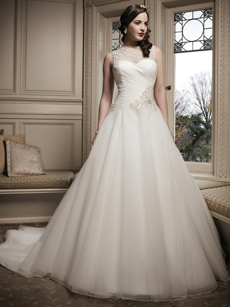 пышное свадебное платье в стиле винтаж