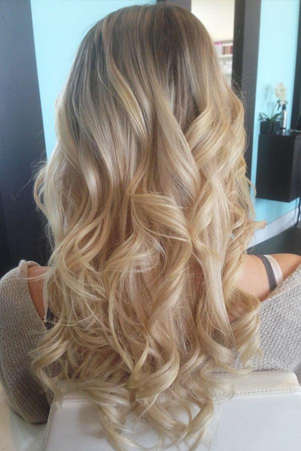 Окрашивание в натуральную блондинку