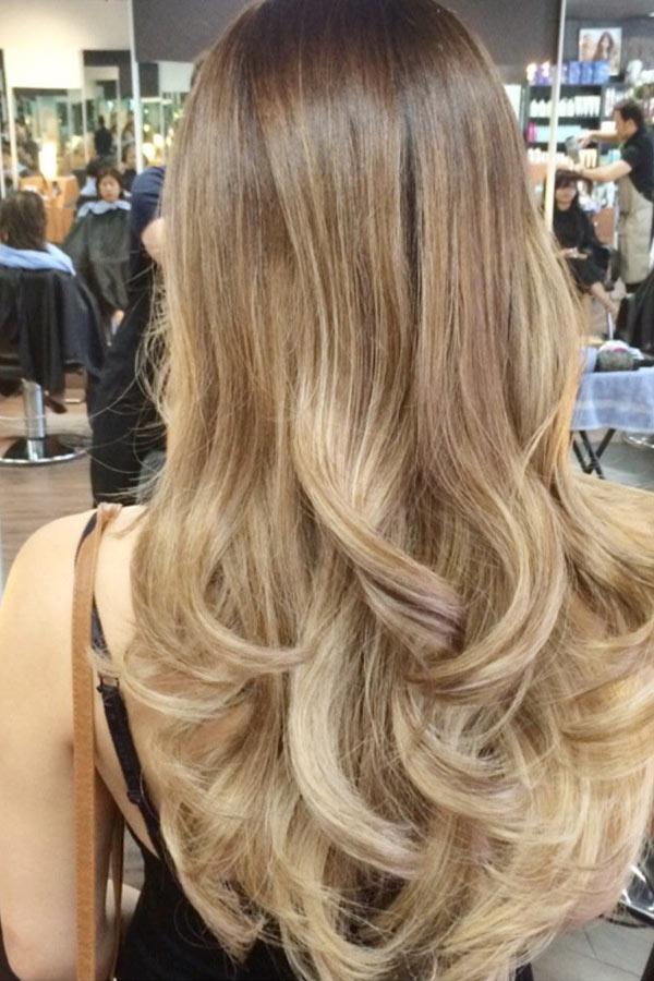 Балаяж на мелированные волосы - 81176