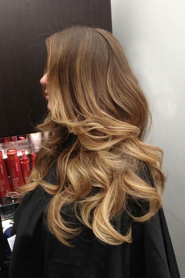 мелирование на средние прямые волосы