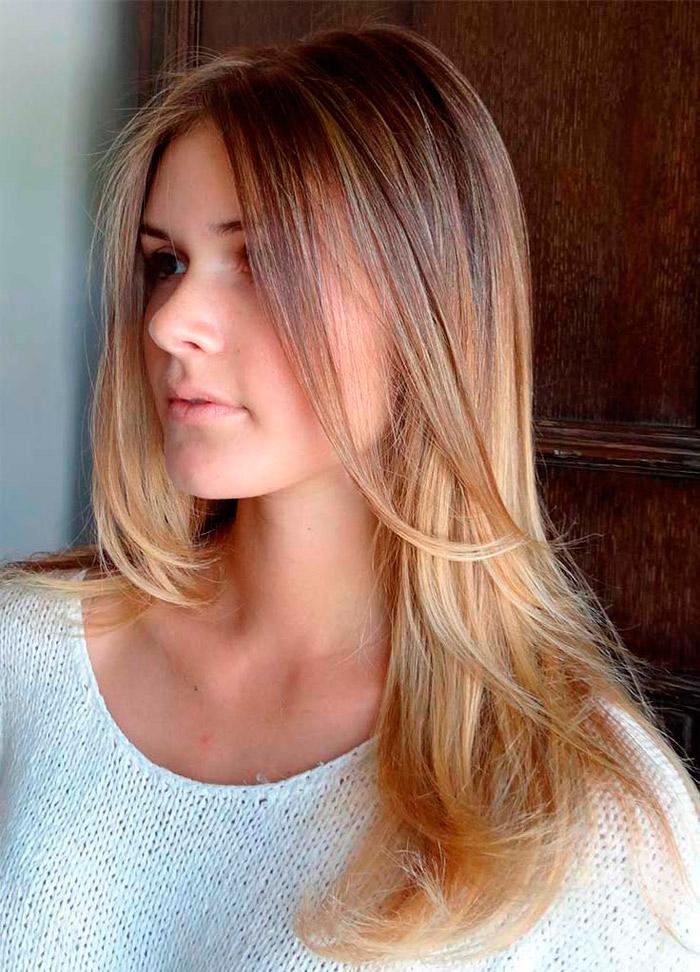 цветное мелирование на светлые волосы фото
